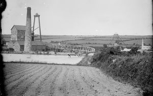 Tregurtha Downs Mine, St Hilary, Cornwall. Around 1890