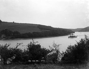 Trelease farm looking across the River Fal to Tolverne, Kea, Cornwall. After 1907