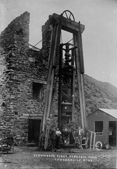 Tywarnhayle Mine, St Agnes, Cornwall. Around 1907
