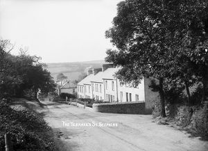 Victoria Terrace, Terras Road, St Stephen in Brannel, Cornwall. Early 1900s