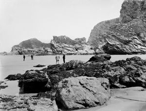 Watergate Bay from near Flory's Island, St Columb Minor, Cornwall. 17th June 1909