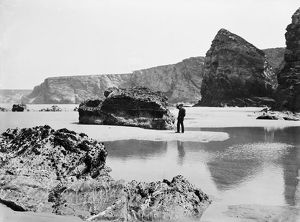 Watergate Bay towards Zachry's Island, St Columb Minor, Cornwall. June 1909