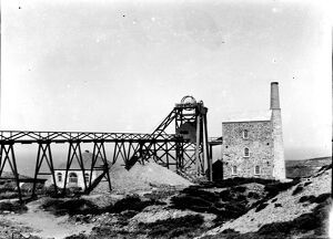 Wheal Kitty Mine, St Agnes, Cornwall. 8th August 1911