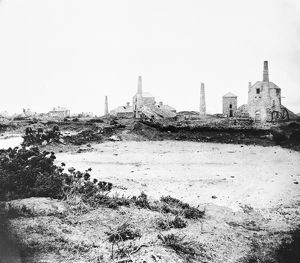 Wheal Providence mine, Carbis Bay, Cornwall. Probably 1880s after the mine closed